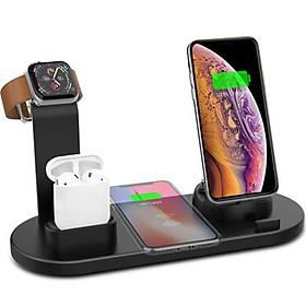 Đế Sạc Không Dây Đa Chức Năng 4 in 1 Cho Apple Watch & Iphone & AirPods US04- Hàng chính hãng