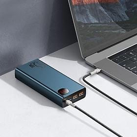 Pin dự phòng màn hình kỹ thuật số kim loại Baseus Adaman Sạc nhanh Power Bank 20000mAh 65W hàng nhập khẩu