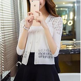 Áo len nữ cardigan kiểu dáng Hàn Quốc dễ thương AO37 Free size