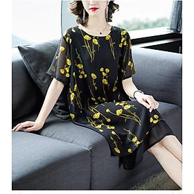 Váy đầm trung niên cao cấp, duyên dáng, sang trọng HTN26