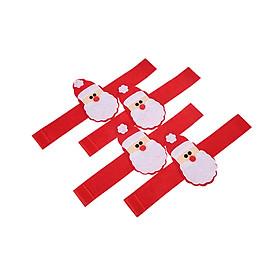 Dây Buộc Khăn Bàn Tiệc Festnight Trang Trí Giáng Sinh Hình Santa (4 Cái)
