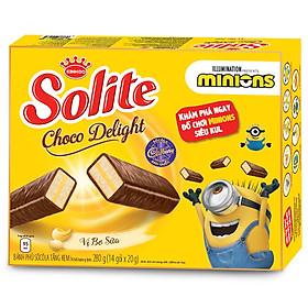 Bánh Solite tầng phủ socola 280g (14 gói x 20g)