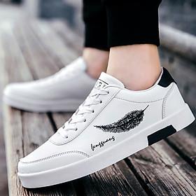 Giày Nam Thể Thao Sneaker Vải Dệt Cực Chất Đế Cao Su Nguyên Khối Siêu Êm Họa Tiết Lông Vũ CTS-GN026-3