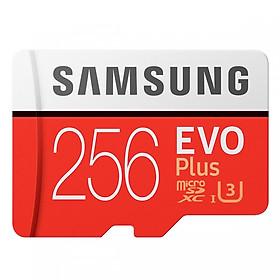 Thẻ Nhớ Micro SDXC Samsung Evo Plus 256GB Class 10  (Kèm Adapter) - Hàng Nhập Khẩu