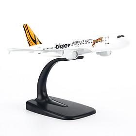 Mô Hình Máy Bay AIRBUS A320 TIGER AIR 20CM EVERFLY