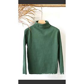 Áo thun lót nỉ nữ cổ ba phân, áo giữ nhiệt cho mua đông, thu đông, chất thun co giãn 4 chiều, âm mùa đông
