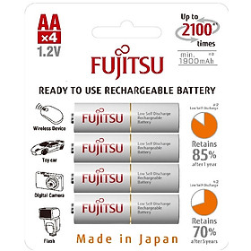 Pin sạc Fujitsu HR-3UTCEX (4B) vỉ 4 viên - Hàng nhập khẩu