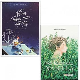 Combo Sách Văn Học Cực Hay: Vẽ Em Bằng Màu Nỗi Nhớ + Nỗi Buồn Màu Xanh Lá (tặng kèm bookmark thiết kế aha)
