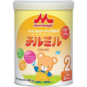 Combo 4 hộp Sữa Morinaga Số 2 Chilmil (850g) và đồ chơi tắm Toys House