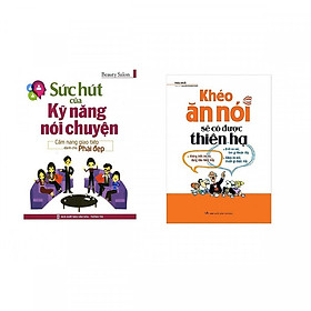 Combo sách kỹ năng giao tiếp số 1 : Sức hút của kỹ năng nói chuyện + Khéo ăn nói sẽ có được thiên hạ - Tặng kèm bookmark Happy Life
