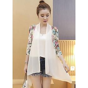 Áo cardigan nữ cánh bướm họa tiết hoa cao cấp A01