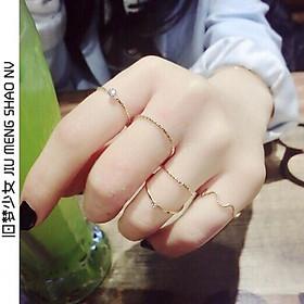 Bộ 5 chiếc nhẫn thời trang nhiều kiểu dáng
