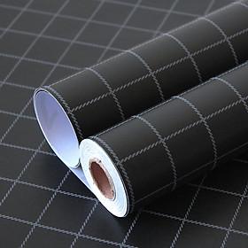Giấy dán tường kẻ ô phong cách sang trọng Hàn Quốc Khổ 10M (1 cuộn) HPMWallpaper