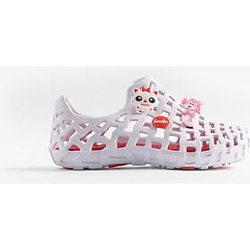 Giày nhựa đi mưa Nữ LD 101 Pop Trắng đỏ