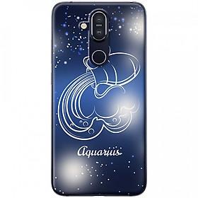 Ốp lưng  dành cho Nokia 8.1 mẫu Cung hoàng đạo Aquarius (xanh)