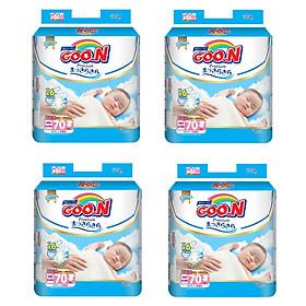 4 Gói Tã Dán Goo.n Premium Gói Cực Đại Newborn NB70 (70 Miếng)