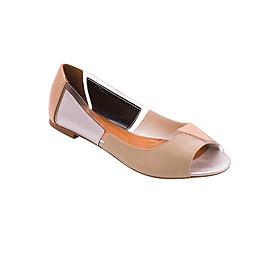 Giày Búp Bê Hở Mũi Phối Màu Sulily B01-IV17XAMBAC