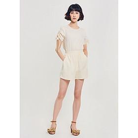 Jumpsuit Short Nữ Tay Rút Nhún Marc Fashion CH067018 - Trắng