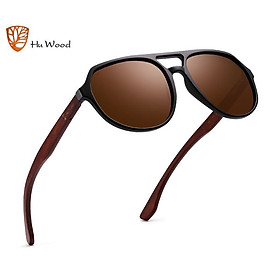 Kính mát dành cho cả Nam và Nữ Hu Wood GR8049 - Gọng Gỗ Cao Cấp - Chống Tia UV400- Hàng Chính Hãng