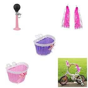 Children's Kids Bike Scooter Streamers Handlebar Horn Hooter Bell Basket
