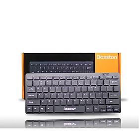 Bàn phím máy tính mini có dây Bosston 868 - BT.HN cổng usb - Hàng Chính Hãng