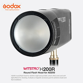 Vòng Đầu Nối Flash Godox H200R Xoắn Ốc Cho Đèn Flash Bỏ Túi Godox EC200 AD200 (200W)
