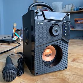 Loa bluetooth karaoke Công Suất Lớn Haoyes A300, Dòng sản phẩm loa di động + Tặng kèm micro hát mọi lúc mọi nơi   Hàng chính hãng