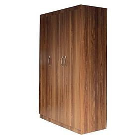 Tủ quần áo 3 cánh bằng gỗ màu nâu