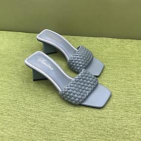 [ Shop giày somina ] Guốc 5cm quai tết bính MT9235