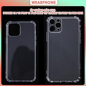 Ốp Lưng Chống Sốc Trong Suốt Dành Cho iPhone 11/ 11 Pro/ 11 Pro Max/ 12 Mini/ 12 / 12 Pro/ 12 Pro Max- Hàng Chính Hãng