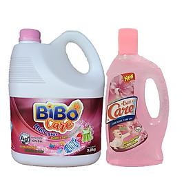 Nước giặt Bibo Care Baby Star Thiên nhiên 3kg + Tặng 1 chai nước lau sàn TrueCare Baby Charming 1 lít