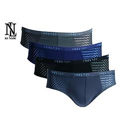 Combo 4 quần lót, quần sịp chéo lưới thoáng khí dành cho nam cao cấp ( màu ngẩu nhiên)- Lê Ngọc Fashion