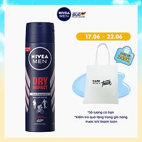 Xịt Ngăn Mùi NIVEA MEN Dry Impact Khô Thoáng 150ml - 81602