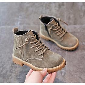 Giày da boot cổ cao cho bé G755
