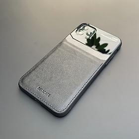 Ốp lưng da kính cao cấp dành cho iPhone 11 Pro Max - Màu đen - Hàng nhập khẩu - DELICATE