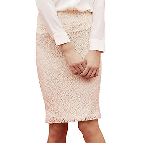 Chân Váy Bút Chì Lace Skirt The Cosmo - Ecru