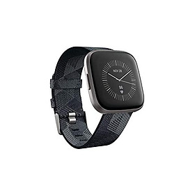 Fitbit Versa 2 Special Edition Health & Fitness Smartwatch with Heart Rate, Music, Alexa Built-in, Sleep & Swim Tracking, Navy & Pink Woven/Copper Rose, One Size (S & L Bands Included), 2.3