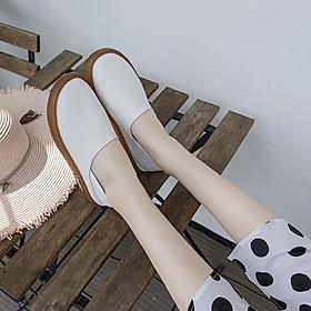 Giày lười bằng da phong cách cổ điển thanh lịch dành cho nữ