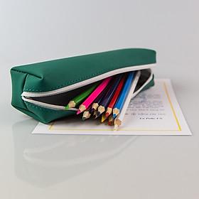 Hộp Đựng Bút (Bóp viết - Túi bút) Da Thật Nhiều Màu Sắc