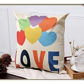 Gối Tựa Lưng Sofa Kèm Ruột LIDACO, Chất Liệu Vải Bố, Kích Thước 45 x 45cm