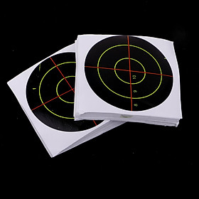 100pcs Targets Reactive Splatter Dia. 7.5cm Adhesive Paper Targets