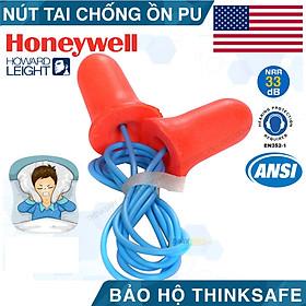 Nút tai chống ồn Honeywell MAX30 chất liệu foam polyrethane mềm - có dây (cam)
