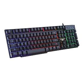 Bàn Phím Giả Cơ Chuyên Game GX50 LED 7 Màu - Đen - Hàng Nhập Khẩu