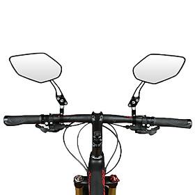 Bộ 2 Gương xe đạp, xe đạp điện cao cấp (kèm chốt gắn ghi-đông lỗ 8mm) xoay 360 độ chắc chắn, gương phẳng, góc lớn giúp đạp xe an toàn Mai Lee