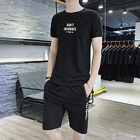 BỘ thể thao nam vải thun lạnh thoáng mát mẫu chi tiết đơn giản lịch sự mặc nhà, dạo phố thể thao , túi có dây kéo , in nhiệt chống bong tróc