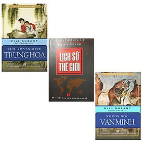 Bộ 3 Cuốn Sách Lịch Sử Tủ Sách Nguyễn Hiến Lê: Lịch Sử Thế Giới + Nguồn Gốc Văn Minh + Lịch Sử Văn Minh Trung Hoa