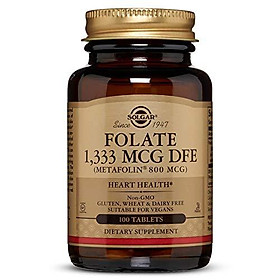 Folate 1,333 MCG DFE (Metafolin 800 mcg) Tablets - 100 Count