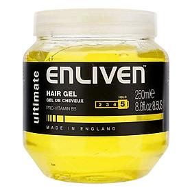 Gel Vuốt Tóc Giữ Nếp Siêu Cứng Enliven Hair Gel Ultimate Độ Cứng 5/5 250ml