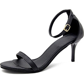 IELGY Sandals female Korean version of the word buckle with fashion wild fine wild high heels women