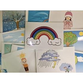 Weather & Season Flashcards - Thẻ học tiếng Anh chủ đề mùa và thời tiết - 20 cards